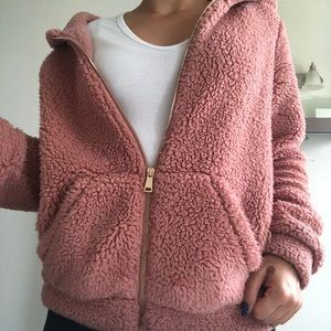 Forever 21 Sherpa teddy style sweater / jacket